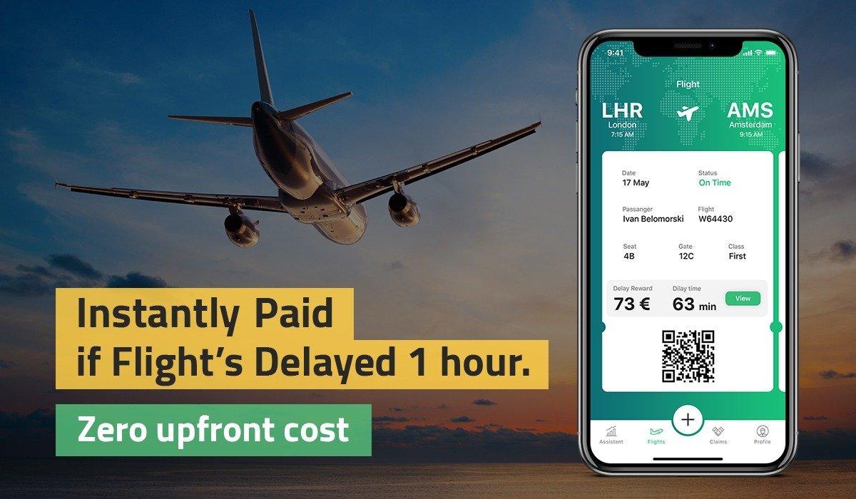 instant flight delay compensation banner